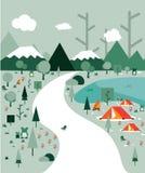 Villaggio della foresta illustrazione di stock