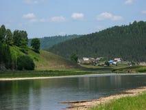 Villaggio della foresta. fotografia stock
