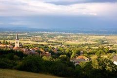 Villaggio della Francia: Villemontais (Loire) Fotografia Stock Libera da Diritti