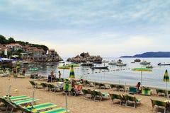 Villaggio della località di soggiorno nel Montenegro Fotografie Stock Libere da Diritti