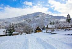 Villaggio della neve fotografia stock