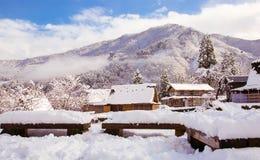 Villaggio della neve Immagine Stock Libera da Diritti