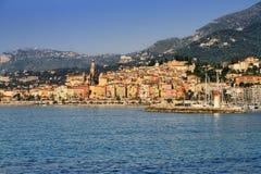 Villaggio della Provenza di Menton sul Riviera francese Fotografia Stock Libera da Diritti
