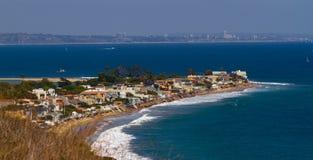 Villaggio della riva della spiaggia di estate Immagine Stock