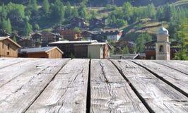 Villaggio della Savoia Fotografia Stock Libera da Diritti