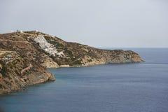 Villaggio della spiaggia di Theseus, Creta Fotografia Stock Libera da Diritti