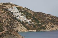 Villaggio della spiaggia di Theseus, Creta Immagine Stock Libera da Diritti