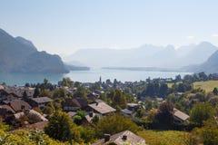 Villaggio della st Gilgen a Salisburgo Austria Immagini Stock Libere da Diritti