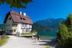 Villaggio della st Gilgen a Salisburgo Austria Immagine Stock