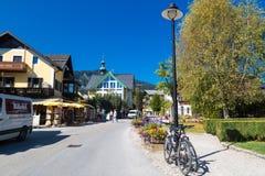 Villaggio della st Gilgen a Salisburgo Austria Immagini Stock