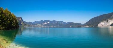 Villaggio della st Gilgen a Salisburgo Austria Fotografie Stock Libere da Diritti