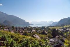 Villaggio della st Gilgen a Salisburgo Austria Fotografia Stock