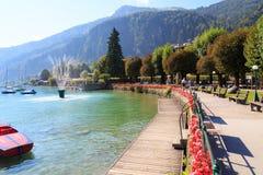 Villaggio della st Gilgen a Salisburgo Austria Fotografie Stock