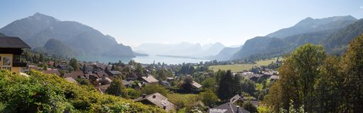Villaggio della st Gilgen a Salisburgo Austria Fotografia Stock Libera da Diritti