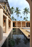 Villaggio della stazione termale, stazione termale indiana minimalista Fotografia Stock