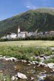 Villaggio della valle di Galtur Tirolo Fotografie Stock Libere da Diritti