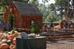 Villaggio della zucca a Dallas Arboretum e giardino botanico nel Texas immagine stock libera da diritti
