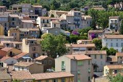 villaggio delle Bormes-les-mimose in Francia Fotografia Stock