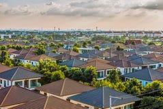 Villaggio delle case urbane Fotografia Stock