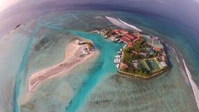 Villaggio delle Maldive Fotografie Stock