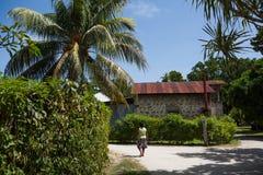 Villaggio delle Seychelles Fotografia Stock Libera da Diritti