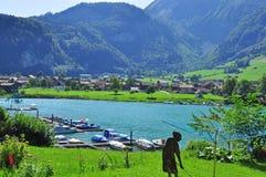 Villaggio dello svizzero di Lungern Immagini Stock Libere da Diritti