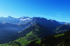 Villaggio di Adelboden, Bernese Oberland, alpi svizzere, Svizzera Immagine Stock