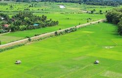 Villaggio di agricoltura del paesaggio Immagine Stock
