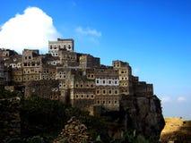 Villaggio di Al-Hajarah Fotografie Stock Libere da Diritti