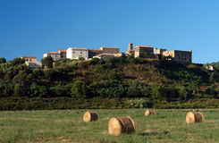Villaggio di Aleria Corsica Immagine Stock Libera da Diritti
