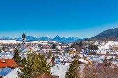 Villaggio di Allgau Immagine Stock