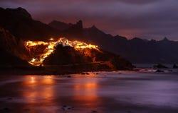 Villaggio di Almaciga in Tenerife Fotografia Stock