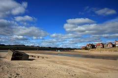 Villaggio di Alnmouth Fotografie Stock Libere da Diritti