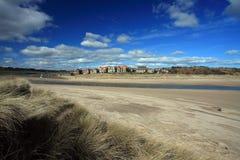 Villaggio di Alnmouth Fotografia Stock
