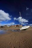 Villaggio di Alnmouth Fotografia Stock Libera da Diritti