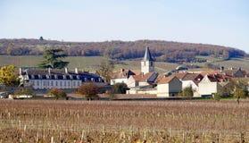 Villaggio di Aloxe Corton fotografie stock libere da diritti