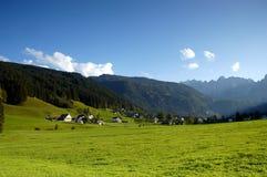 Villaggio di Alpen Fotografia Stock