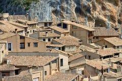 Villaggio di Alquezar Immagine Stock Libera da Diritti