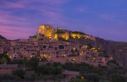 Villaggio di Alquezar nella provincia di Huesca, Spagna Fotografie Stock Libere da Diritti