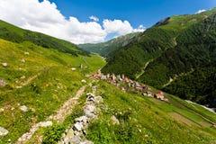 Villaggio di alta montagna. Fotografia Stock Libera da Diritti