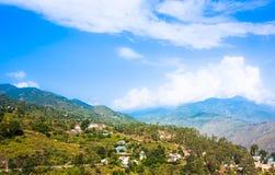 Villaggio di alta montagna in Himalaya Immagine Stock