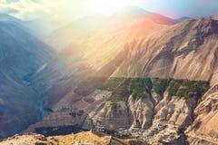 Villaggio di alta montagna in Himalaya Fotografia Stock Libera da Diritti