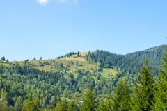 Villaggio di alta montagna in Ucraina Immagine Stock Libera da Diritti