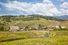 Villaggio di Altai Fotografie Stock