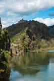 Villaggio di Ambialet, Francia Fotografia Stock Libera da Diritti