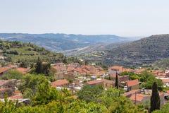 Villaggio di Arsos nella regione del vino di Cipro Fotografia Stock Libera da Diritti