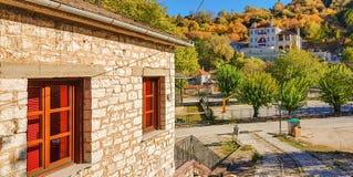 Villaggio di Aspraggeloi nella prefettura di Giannina Immagini Stock Libere da Diritti