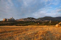 Villaggio di Assisi Fotografie Stock Libere da Diritti