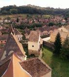 Villaggio di Atel nella Transilvania Immagine Stock Libera da Diritti