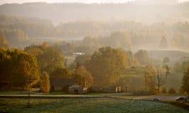 Villaggio di autunno fotografia stock